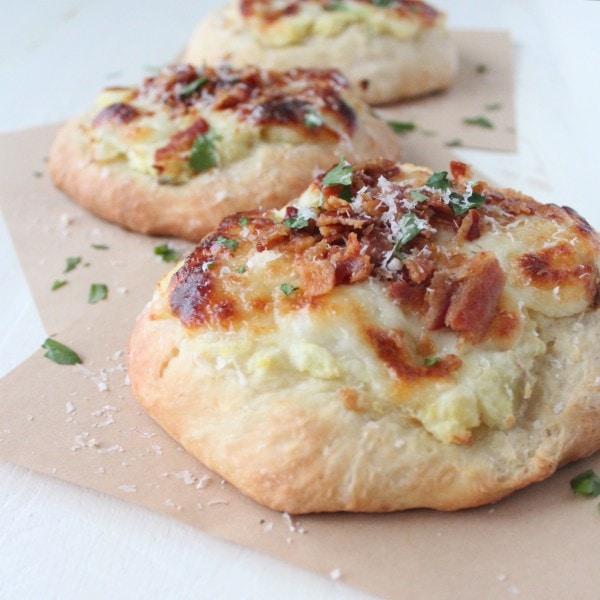 Mashed Potato & Bacon Pizza