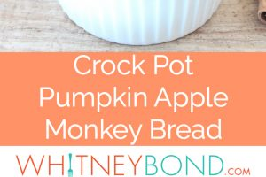 This fall-inspired Crock Pot Pumpkin Apple Monkey Bread recipe is easy to throw in the slow cooker at night, then wake up to a delicious breakfast in the morning.