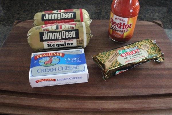 Buffalo Sauce Cheesy Sausage Balls Ingredients
