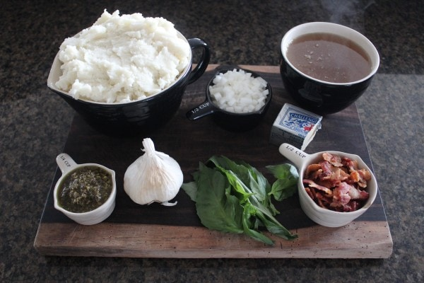 Garlic Basil Mashed Potato Soup Ingredients