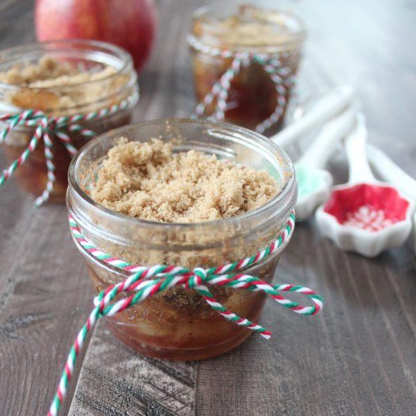 Gluten Free Mason Jar Apple Crumble