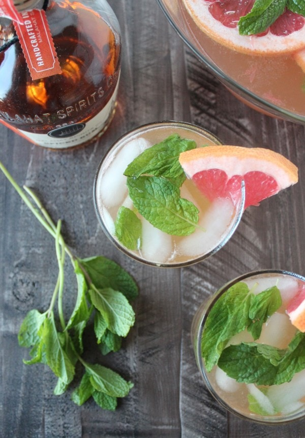 Grapefruit Ginger Spiced Rum Punch