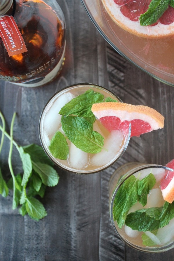 Grapefruit Ginger Spiced Rum Punch