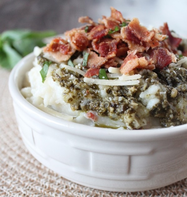 Garlic Basil Mashed Potato Soup