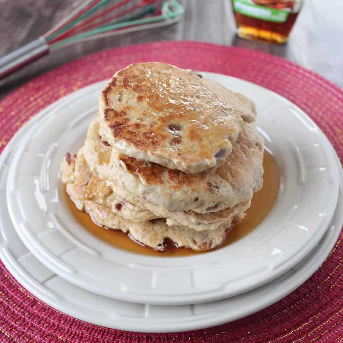 Gluten Free Maple Bacon Pancakes