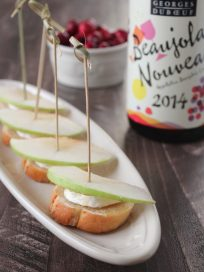 Brie Honey Apple Crostini