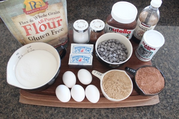 Gluten Free Nutella Brookies Ingredients
