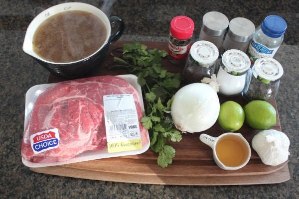 Slow Cooked Beef Barbacoa Ingredients
