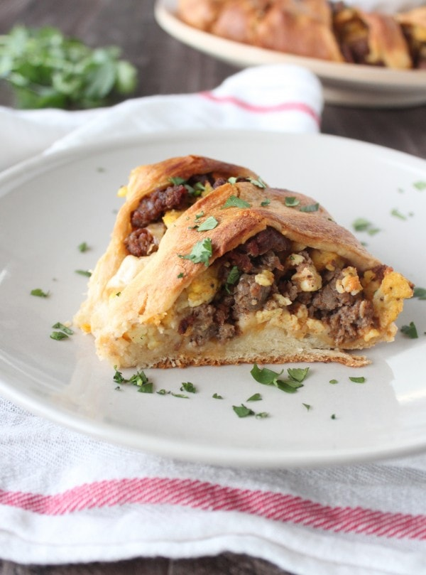 Sausage Egg and Cheese Taco Ring
