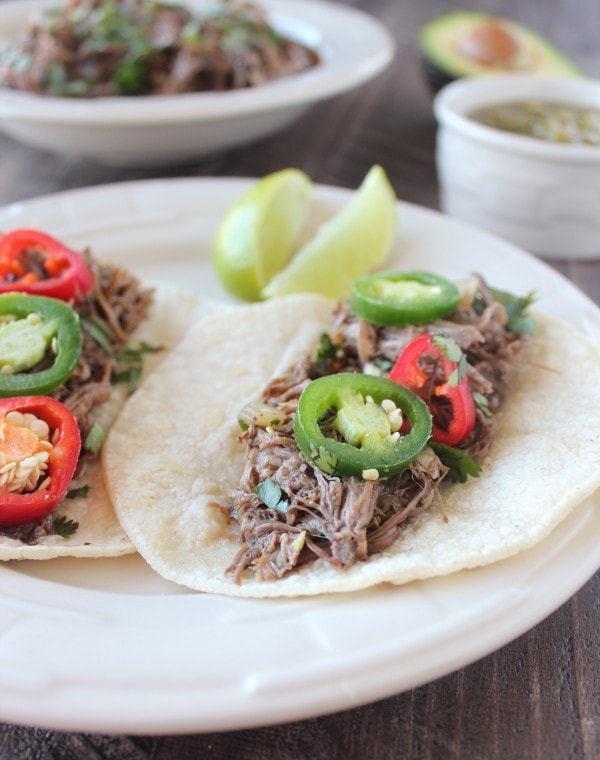 Slow Cooked Beef Barbacoa Tacos Recipe