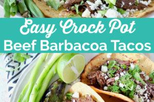 Easy Crock Pot Beef Barbacoa Tacos