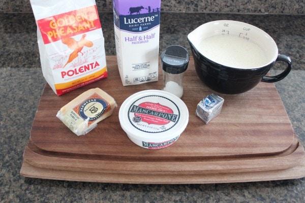 Creamy Cheesy Polenta Ingredients