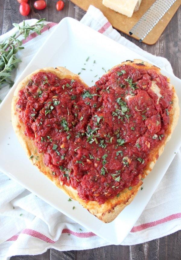 Deep Dish Heart Shaped Pizza Recipe