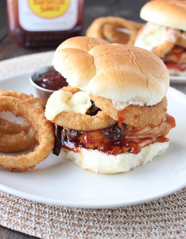 BBQ Mushroom Cheddar Chicken Sandwich