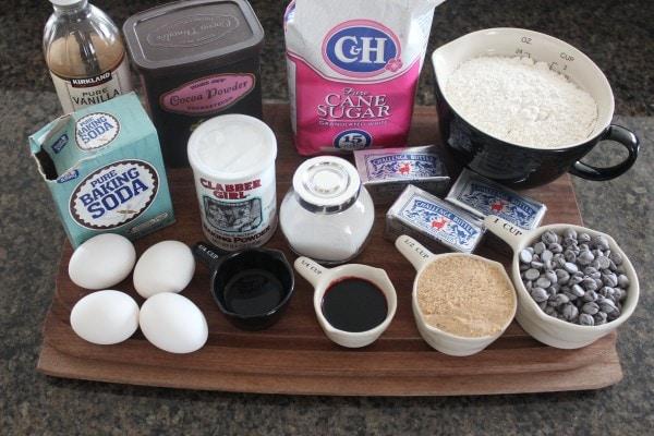 Red Velvet Brookies Ingredients