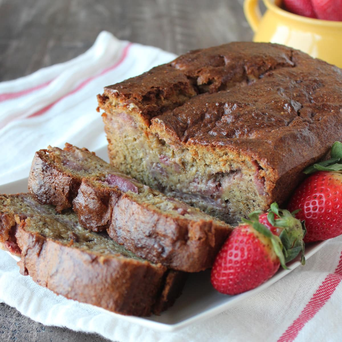 Gluten Free Strawberry Banana Bread