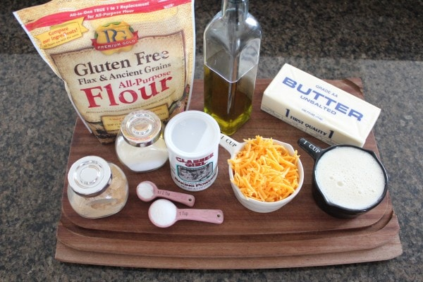 Garlic Cheddar Gluten Free Biscuits Ingredients
