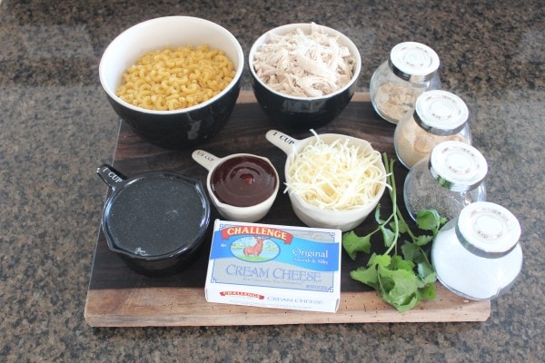 BBQ Chicken Mac and Cheese Ingredients