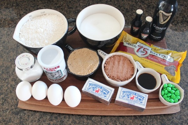 Guinness and Irish Cream Brookies Ingredients