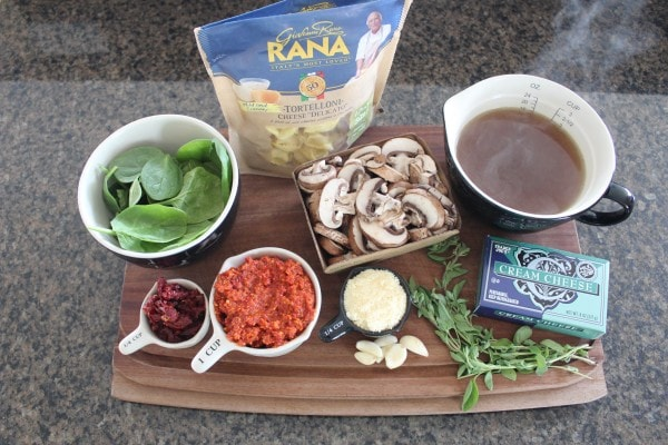 One Pot Vegetarian Pesto Tortellini Recipe Ingredients