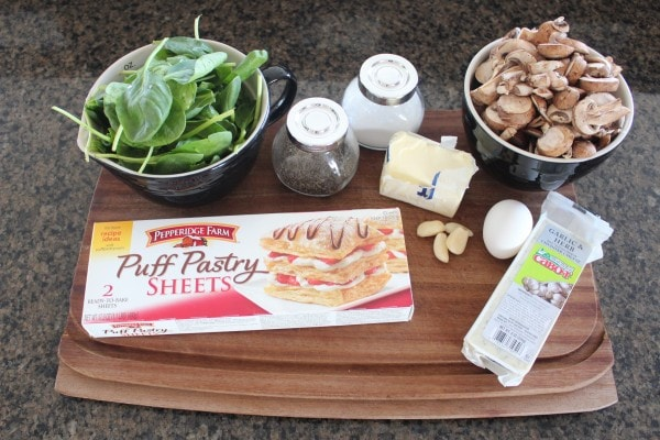 Cheesy Mushroom Spinach Puff Pastry Recipe Ingredients