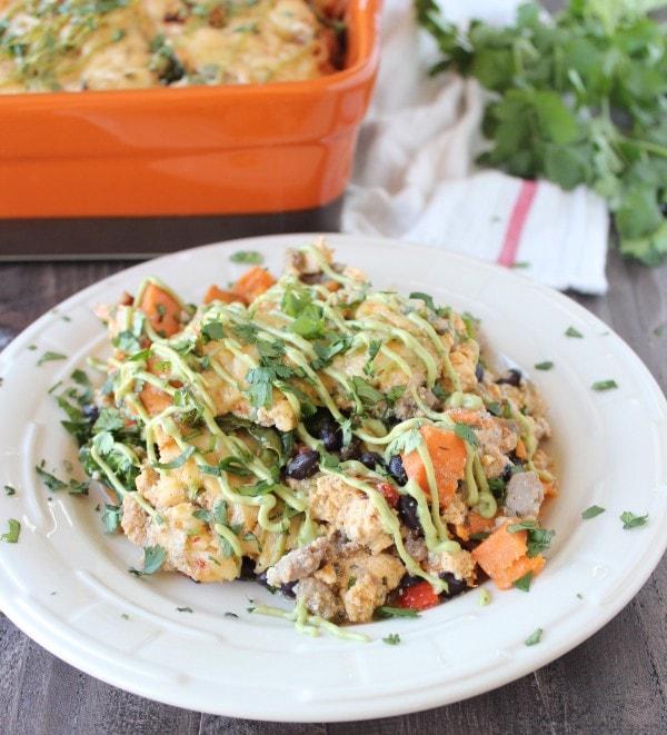 Breakfast Casserole Healthy: Healthy Mexican Breakfast Casserole