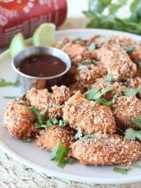 Crispy Thai Cashew Chicken Bites