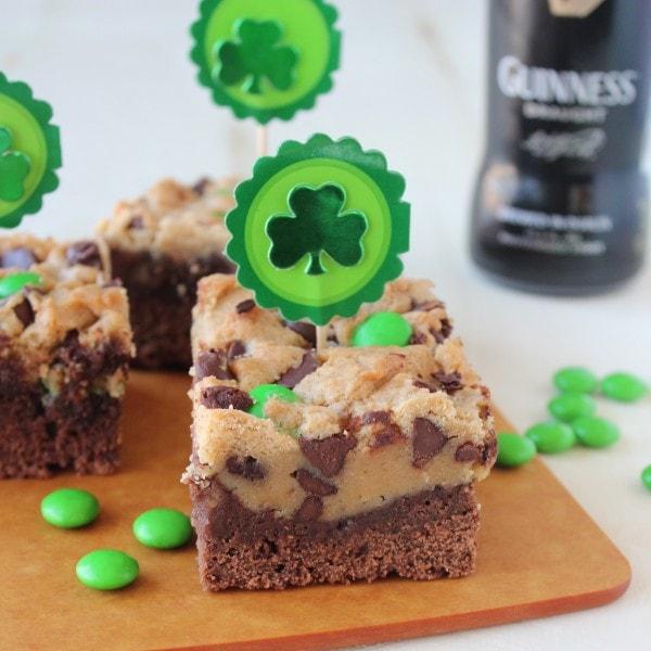 St Patricks Day Irish Cream & Guinness Brookies