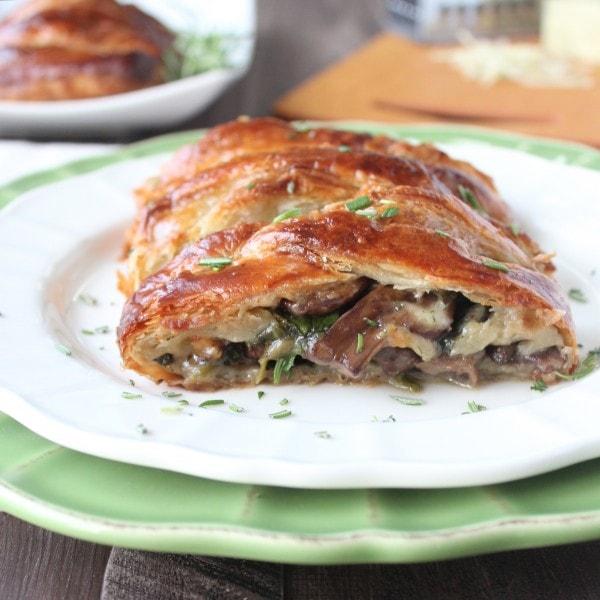 Cheesy Mushroom Spinach Puff Pastry Recipe