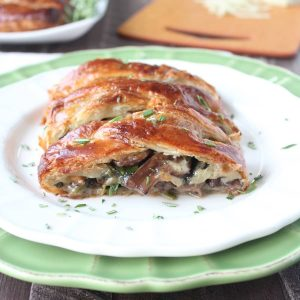 Cheesy Mushroom Spinach Puff Pastry