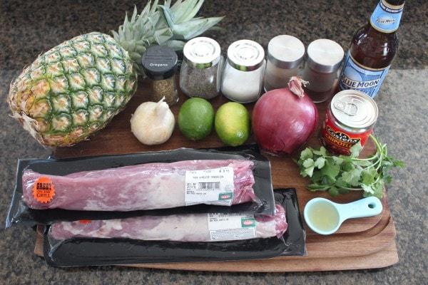 Slow Cooked Tacos Al Pastor Ingredients