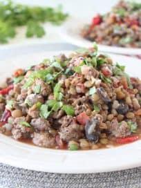 One Pot Mediterranean Sausage & Lentils Recipe