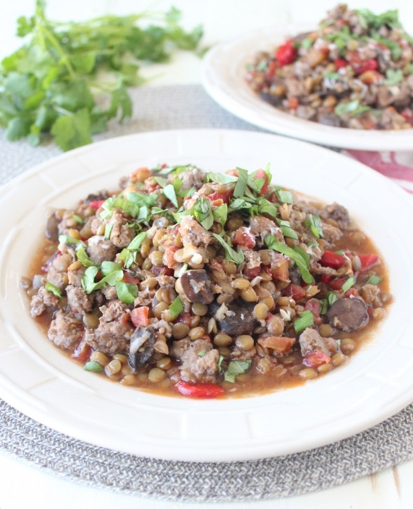 One Pot Sausage & Lentils Recipe
