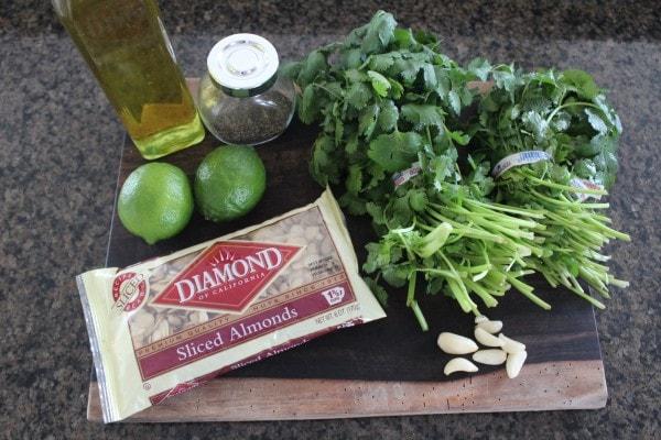 Cilantro Lime Pesto Ingredients