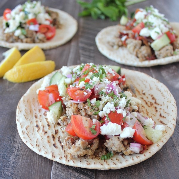 Greek Tacos with Cucumber Tomato Salsa