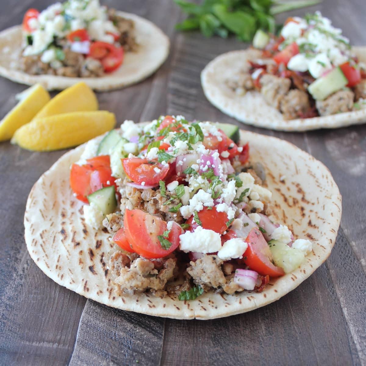 Greek Turkey Taco Recipe