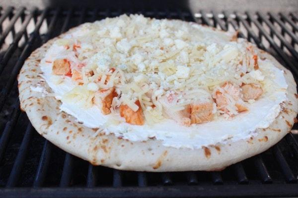 Buffalo Chicken Dip Pizza Recipe
