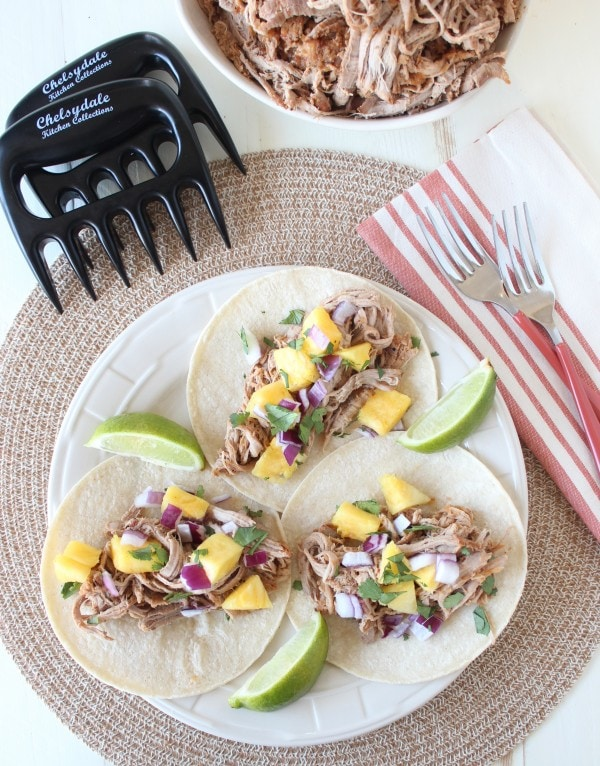 Slow Cooked Shredded Tacos Al Pastor