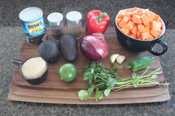 Mexican Sweet Potato Salad Ingredients