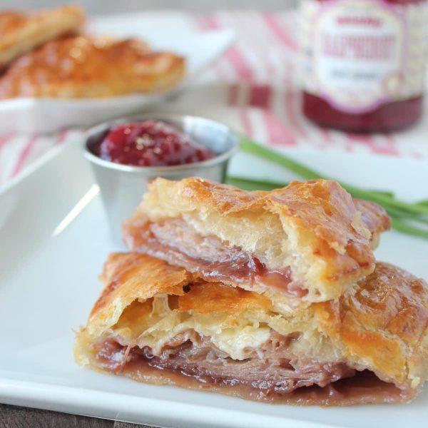 Prosciutto Cheddar Puff Pastry Monte Cristo Sandwich