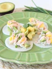 Jicama Crab Tacos