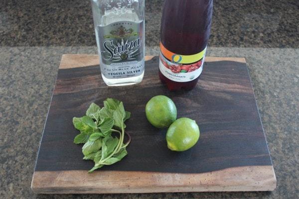 Pomegranate Mint Margarita Ingredients