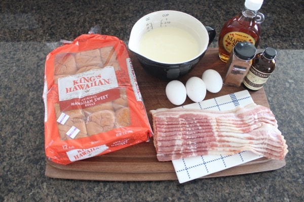 Maple Candied Bacon Bread Pudding Muffins Ingredients