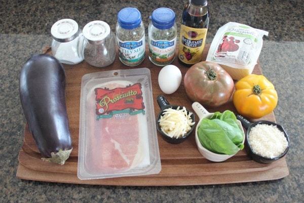 Crispy Eggplant & Prosciutto Caprese Salad Ingredients