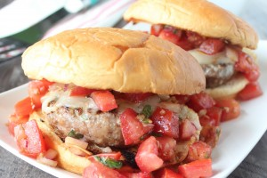 Bruschetta Turkey Burger Recipe