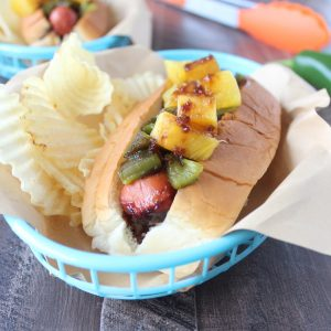 Grilled Pineapple Teriyaki Hot Dogs