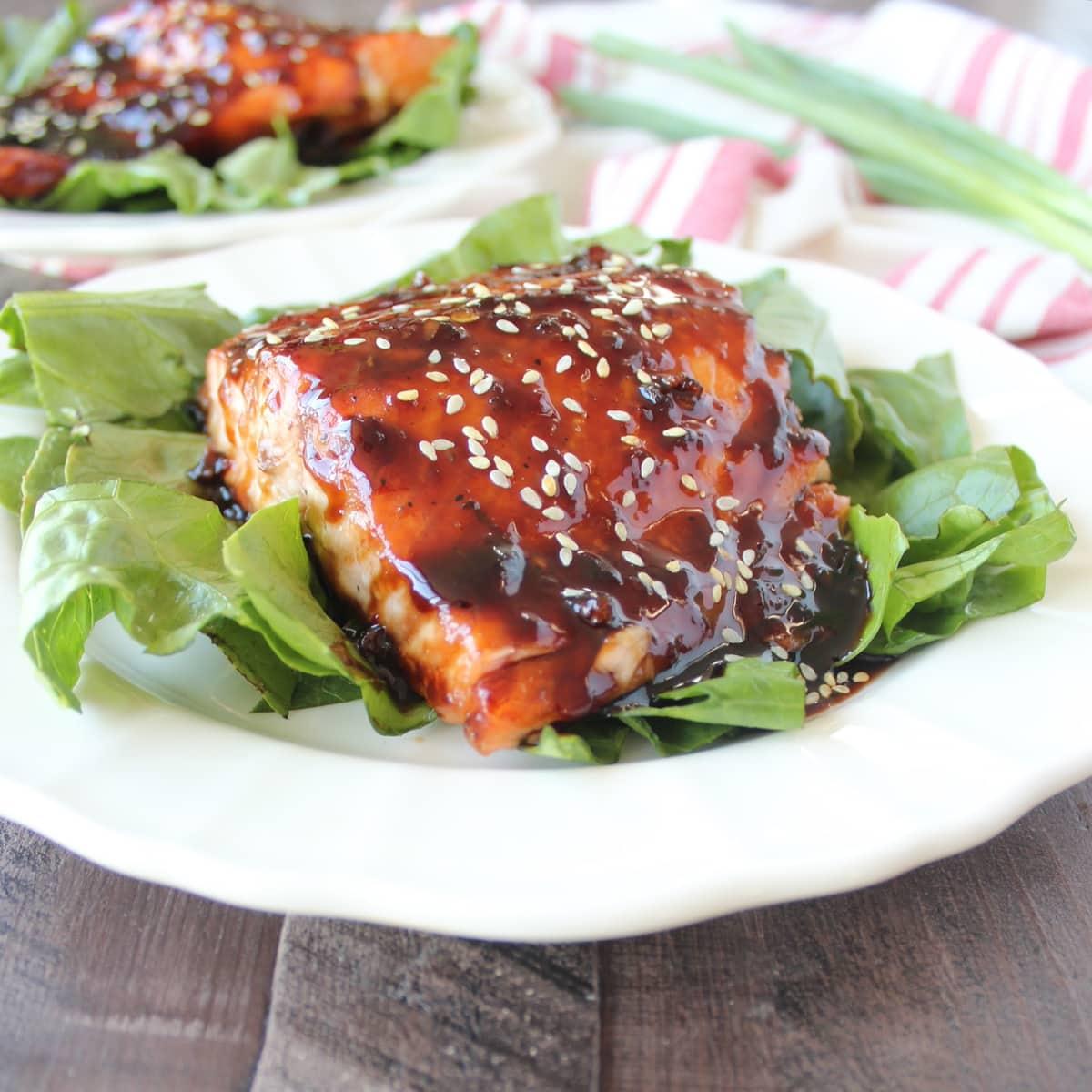 Korean BBQ Grilled Salmon