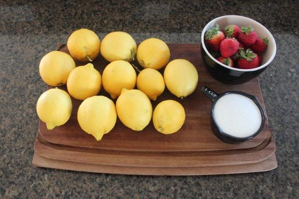 Grilled Strawberry Lemonade Ingredients