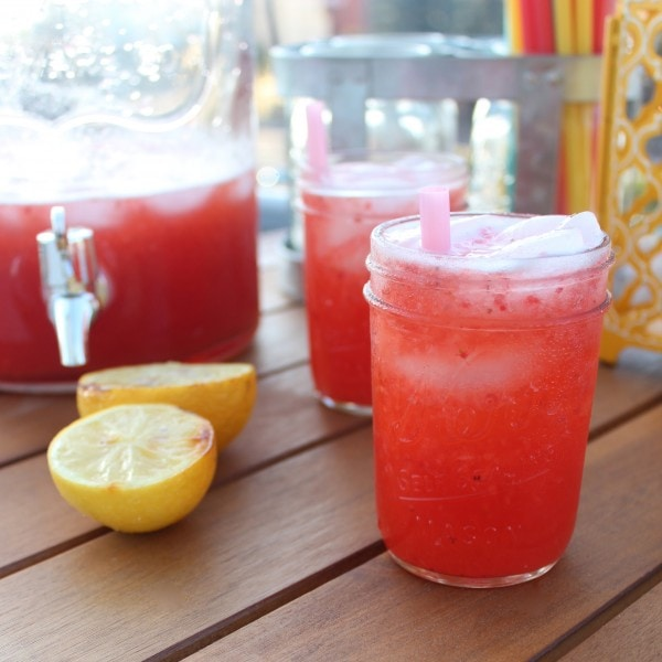 Grilled Strawberry Lemonade