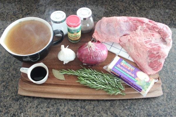 Rosemary Tri Tip French Dip Ingredients